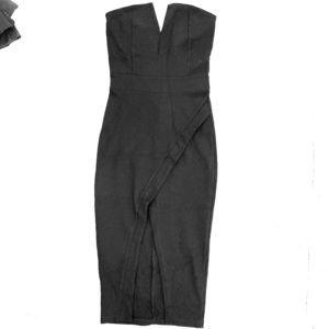 Black Fashion Nova Midi Dress